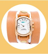 Camel Smooth Chateau Wrap Watch