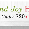 Holiday Shop Preview: Under $20