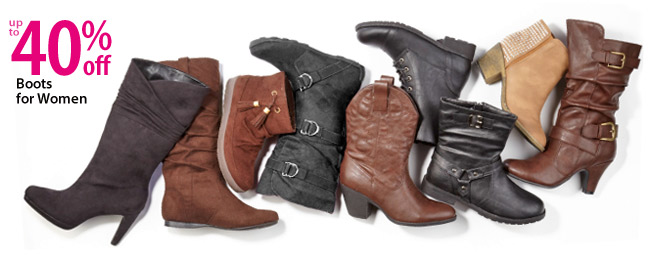 Up to 40% off Boots for Women