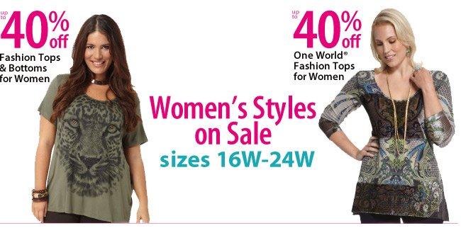 Womens Sizes on sale 16w - 24w