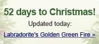 Labradorite's Golden Green Fire