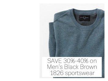 Save 30%-40% on Men's Black Brown 1826 sportswear