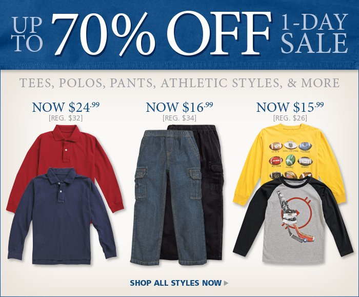 Great Savings on Boys Styles for up to 70% off, Today Only.