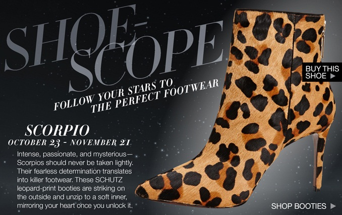 Shoe Horoscope Scorpio