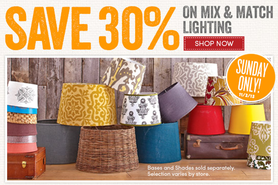 Save 30% on Mix & Match Lighting