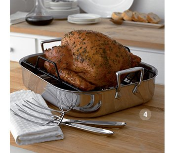 4. All-Clad® Stainless Roaster Set  $159.95 Reg. $199.95