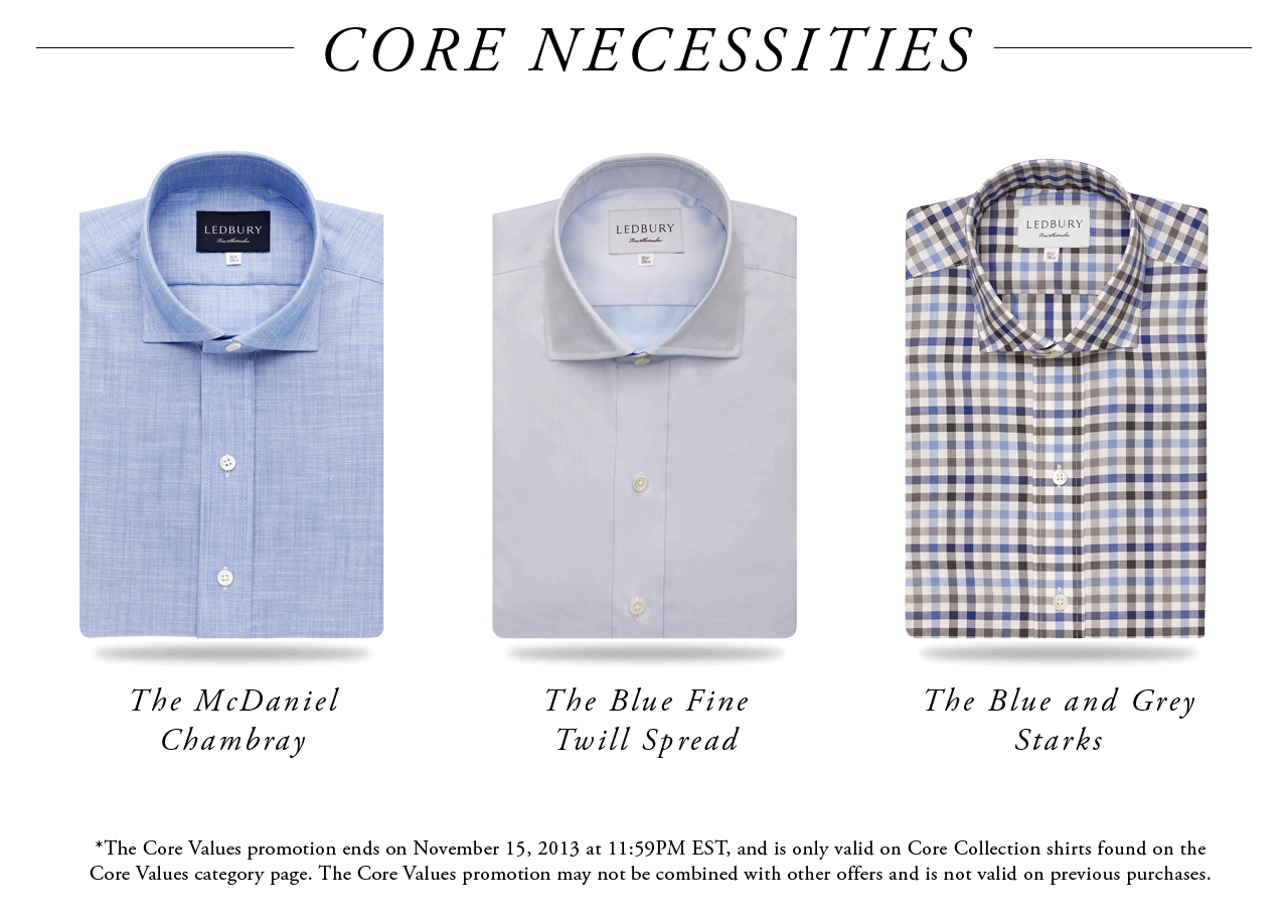 The McDaniel Chambray, Blue Fine Twill Spread, Blue and Grey Starks