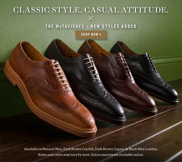 The McTavishes: Classic Style. Casual Attitude. Shop Now >