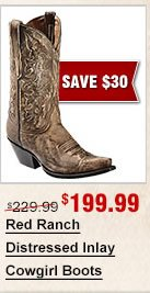 Red Ranch Fancy Inlay Cowgirl Boots