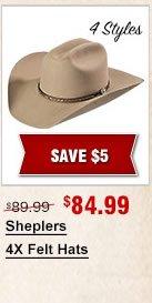 Sheplers 4X Felt Hats