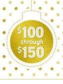 $100 through $150
