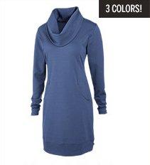 Indira Comfy Cowl Dress