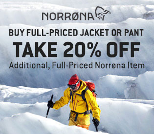 20% Off Norrøna Apparel