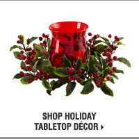 Shop Holiday Tabletop Décor.