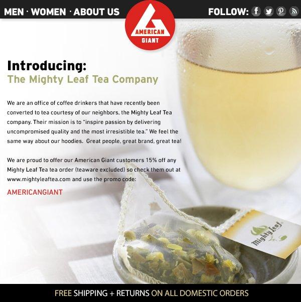 Introducing Mighty Leaf Tea Company