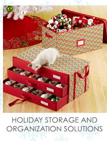 HOLIDAY  STORAGE AND ORGANIZATION SOLUTIONS »