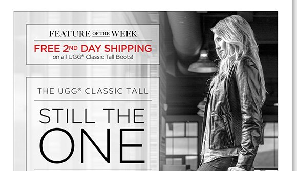 NEW Feature of the Week: Shop the cozy comfort of the one and only UGG® Australia Classic Tall and enjoy FREE 2nd Day Shipping!* See all the classic colors you love, plus fresh new fall hues online and in stores at The Walking Company.