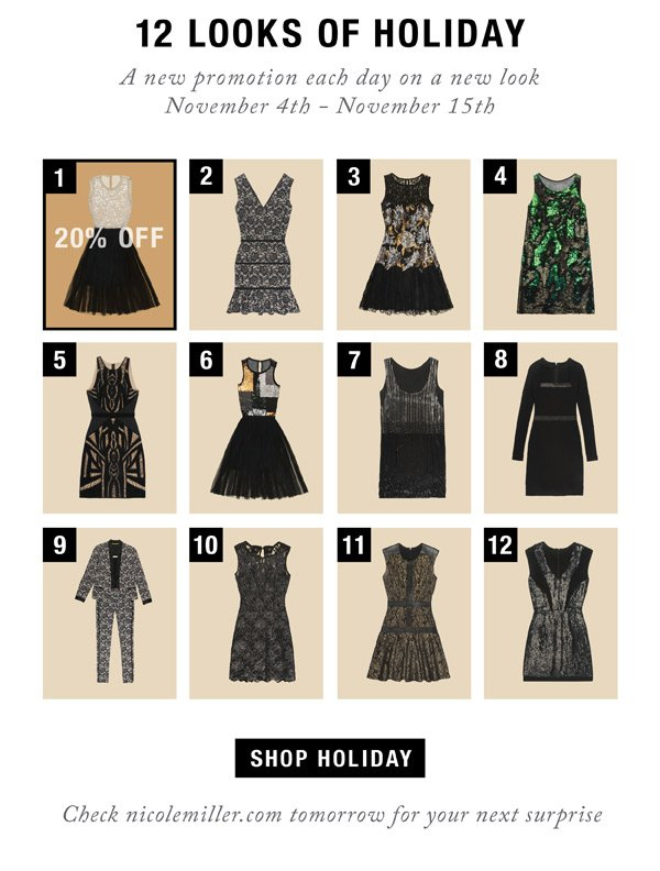 12 Looks of Holiday. Day 1: 15% Off