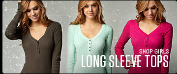 Girls Long Sleeve Tops