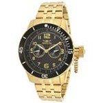 Invicta 14888 Men's Specialty Black Carbon Fiber Dial Gold Tone Steel Dive Watch