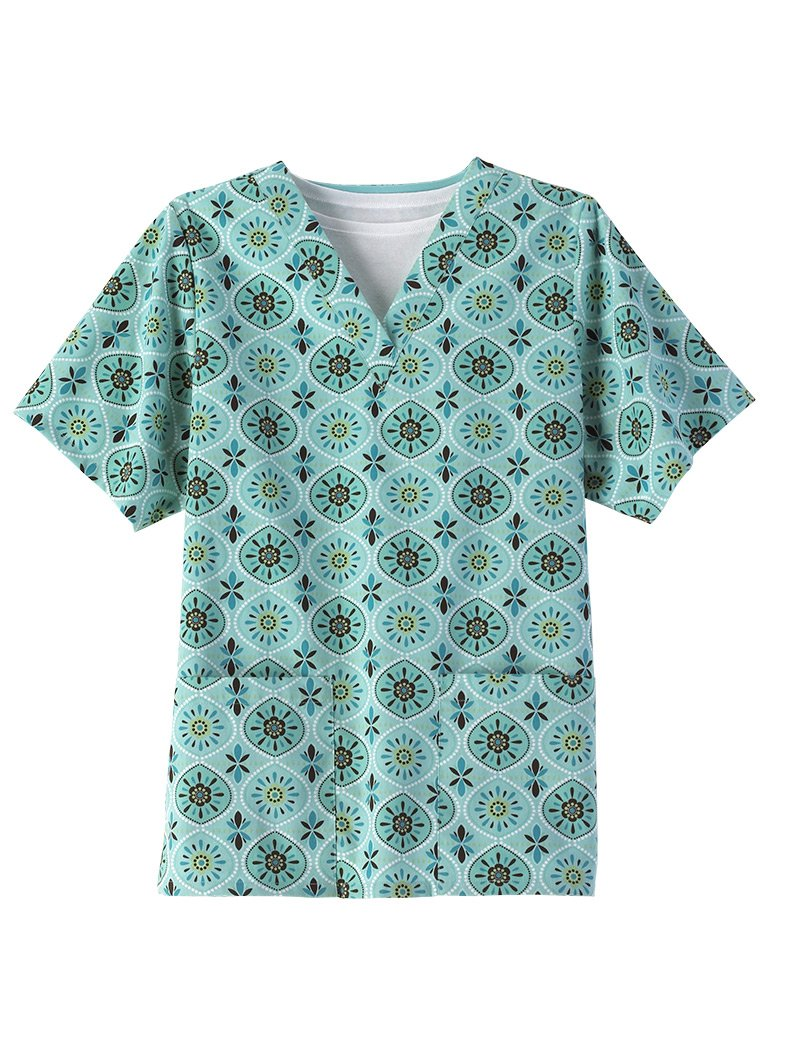 Aqua Sol 2 Pocket Scrub Top