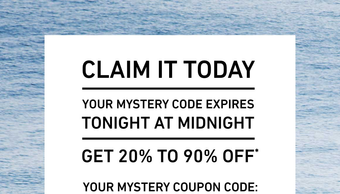 Your Mystery Gift Ends Tonight. Get Up To 90% Off