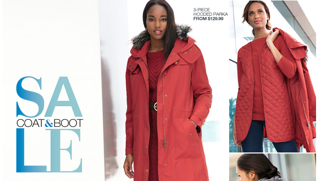 Coat and Boot Sale - Coats Up to $50 Off, Boots Up to 50% Off