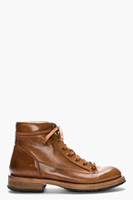 PAUL SMITH Tan Leather Beat Up Stubbs Boots for men