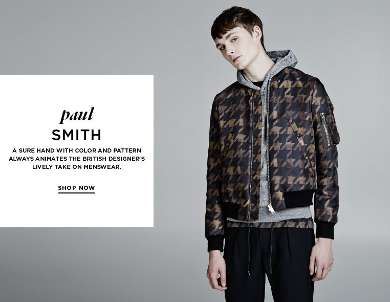 The colorful character of Paul Smith A sure hand with color and pattern always animates the British designer's lively take on menswear.