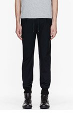 PAUL SMITH Navy Drawstring Dress Trousers for men