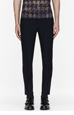 PAUL SMITH Black pleated classic trousers for men