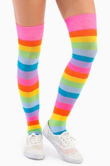 REALLY RAINBOW THIGH HIGH SOCKS 12