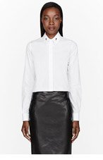 GIVENCHY White Star-printed Collar Stay shirt for women