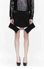 GIVENCHY Black Pleated Stretch Cady Skirt for women