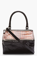 GIVENCHY Black Wood paneled Pandora bag for women