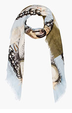 GIVENCHY Light Blue Madonna 17 Scarf for women