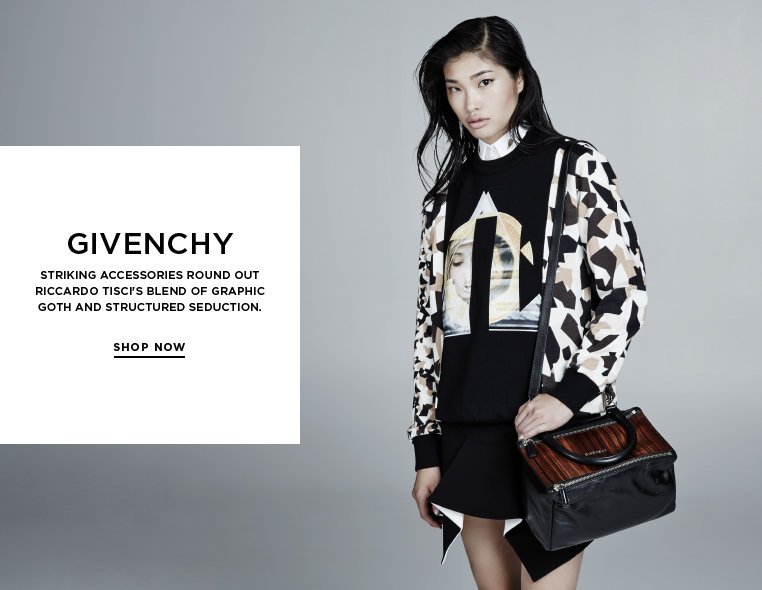 Quintessentially Givenchy Striking accessories round out Riccardo Tisci's blend of graphic goth and structured seduction.