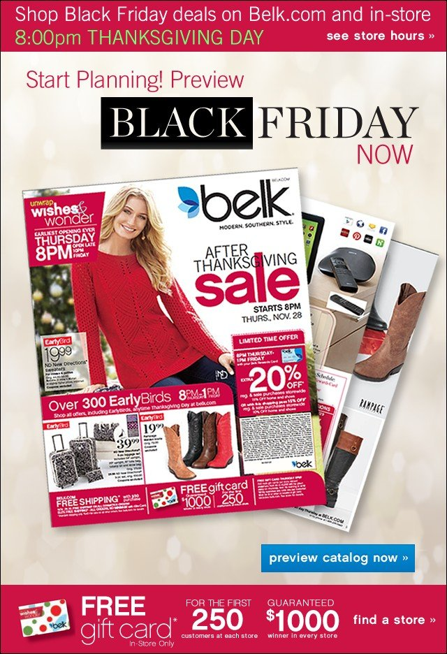 Preview Black Friday Deals NOW at belk.com