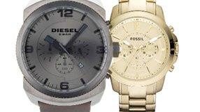 Fossil, Michael Kors, Diesel & Coach