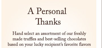 A Personal Thanks