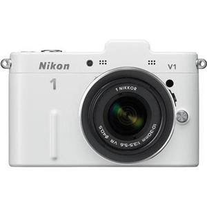 Adorama - Nikon 1 V1 Mirrorless 10.1MP Digital Camera with 10-30mm VR Lens, White