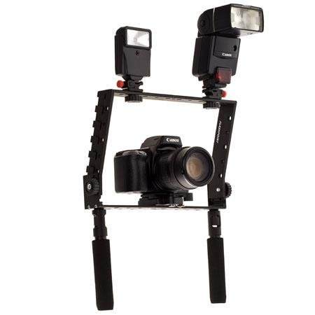 Adorama - Flashpoint Camera Cage Bracket with Many Shoes