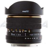 Adorama - Pro Optic 8mm f/3.5 Manual Focus, Fish Eye Lens with Canon EOS Mount