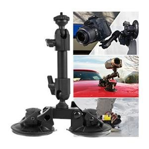 Adorama - Delkin Fat Gecko, Dual Suction Cup Camera Mount with Ball Head for Cars, Motorcycles & Bicycles