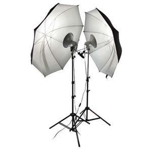 Adorama - Photoflex First Studio Portrait Kit, with 2 First Star Lights, Bulbs, Stands & Umbrellas