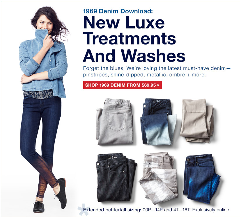 1969 Denim Download: New Luxe Treatments And Washes | SHOP 1969 DENIM FROM $69.95