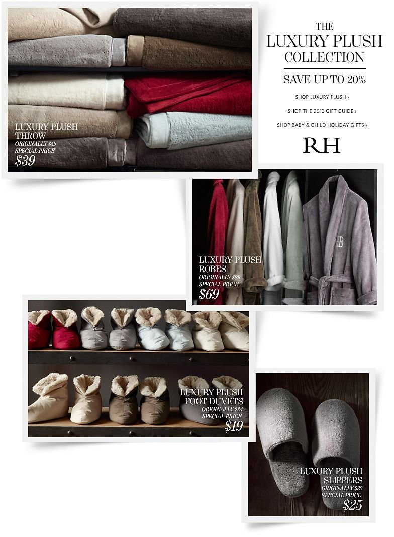 The Luxury Plush Collection - Save up to 20%
