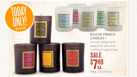 Save 25% on All French Candles