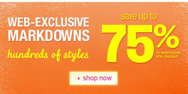 web-exclusive markdowns