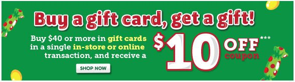 Buy a gift card, get a gift